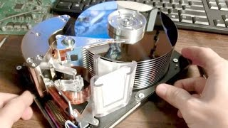 Giant Hard Drive Teardown and Gyroscope mod