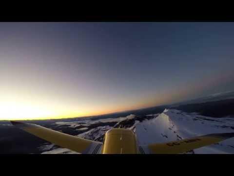 Bristell overflying Calbuco Volcano