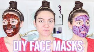 4 DIY Face Masks For GLOWING SKIN &amp ACNE SCARS !!
