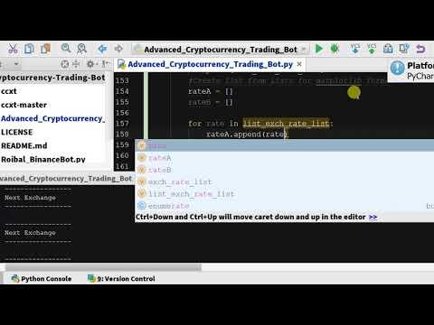 un bot pentru tranzacționarea criptomonedelor în python