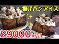 【大食い】高カロリー!揚げぱんアイス!【双子】