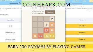 Coinheaps.com mmgp, отзывы 2018, обзор, 600 BTC сатош на играх