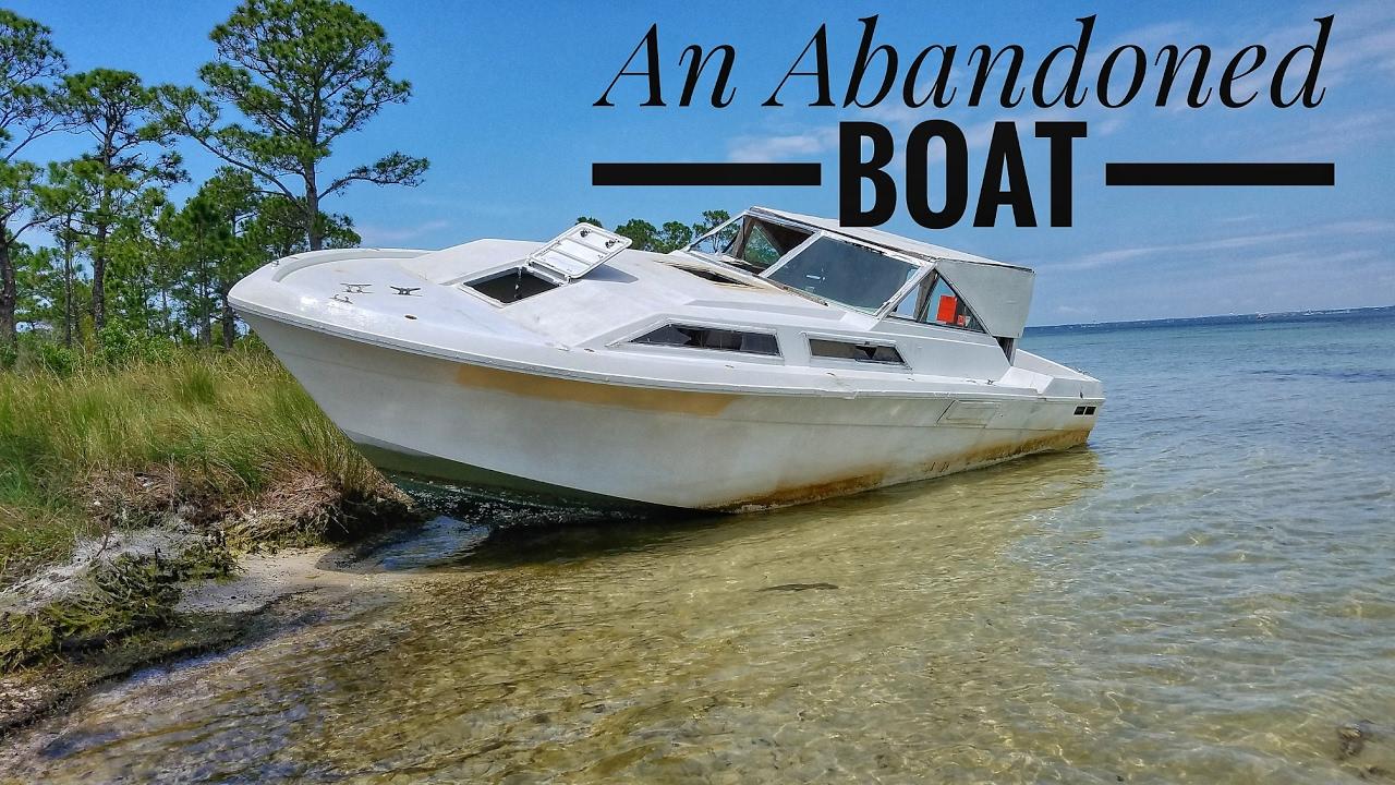 Abandoned Boat Near Crab Island In Destin Florida Youtube