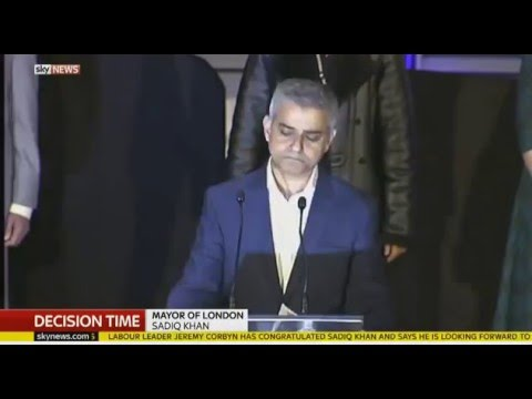Sadiq Khan Mayor of London Elected First Speech