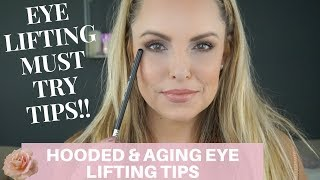 LIFE CHANGING, EYE LIFTING TIPS FOR AGING EYES || Makeup Beginners Guide