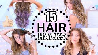 15 einfache HAIR HACKS ♡ 1-Minute Frisuren |Haare tönen |Locken |Pflege! BarbaraSofie