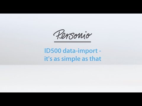 ID500 Time And Attendance // Personio Data Import
