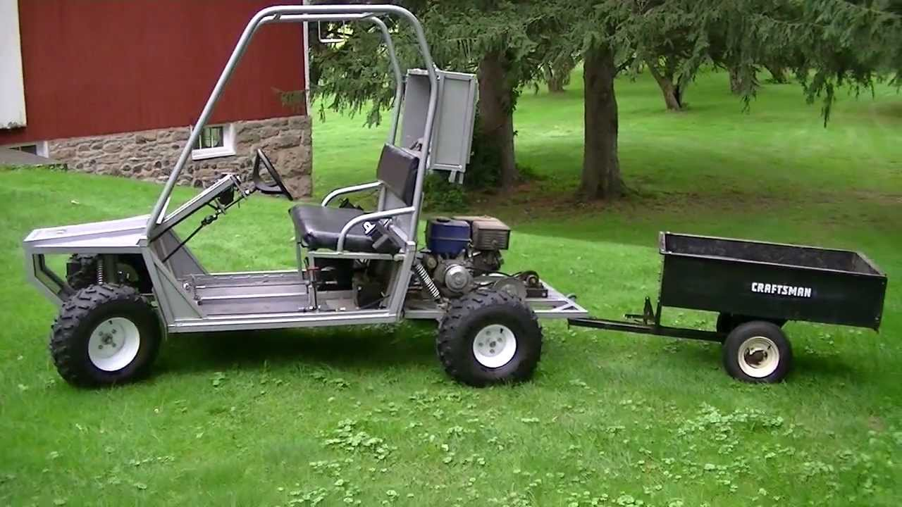 My homemade utility vehicle youtube for Side by side plans