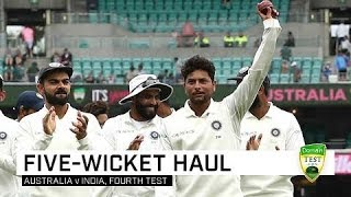 Kuldeep claims five in Sydney