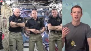 رواد فيسبوك يتابعون محادثة زوكربيرغ مع رواد المحطة الفضائية