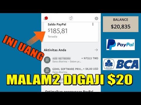MAIN SANTAI, MALAM2 DAPAT $20 VIA PAYPAL #TERBUKTI MASIH MEMBAYAR