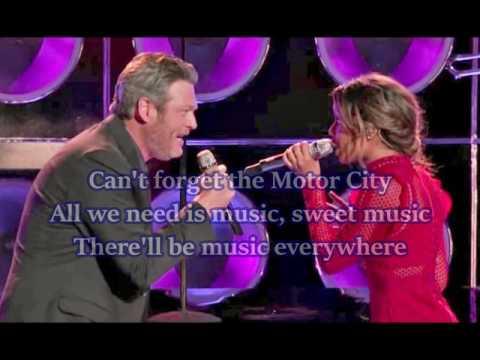 Aliyah Moulden & Blake Shelton - Dancing In The Street (The Voice Performance) - Lyrics