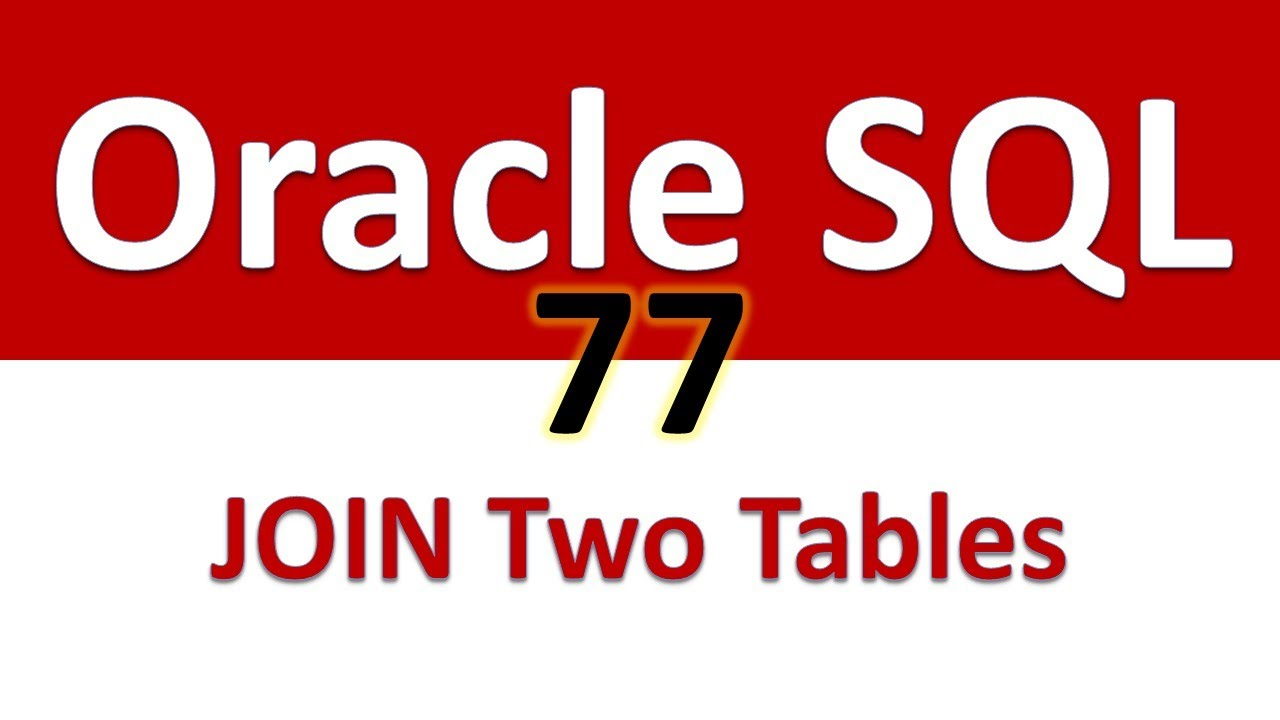 oracle sql how to join tables