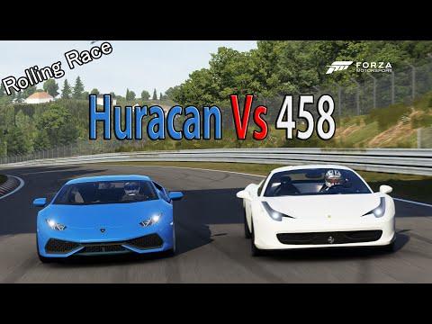 forza motorsport 6 drag race lamborghini huracan vs ferrari 458 italia. Black Bedroom Furniture Sets. Home Design Ideas