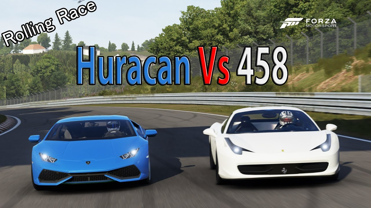 forza motorsport 6 drag race lamborghini huracan vs. Black Bedroom Furniture Sets. Home Design Ideas