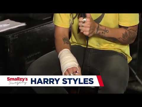 Harry Styles talking about the Surgery he had in his hand wrist for NOVA Radio 8.9.17