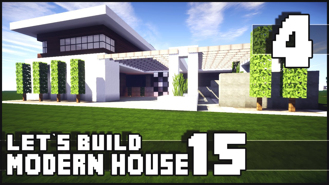 minecraft modernes haus keralis Minecraft Lets Build: Modern House 15 - Part 4 + Download - Youube
