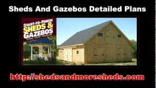 Sheds And Gazebos Detailed Plans