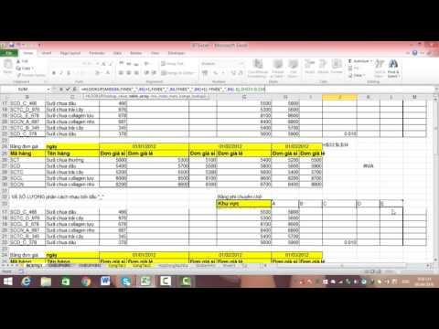 Bài 10: Lập báo cáo doanh thu bán hàng - Excelketoan.vn