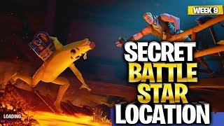 WEEK 9 SECRET BATTLE STAR LOCATION GUIDE! - Fortnite Find the Secret Battle Star in Loading Screen 9