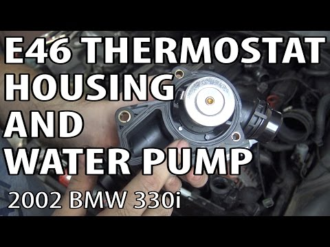 BMW E46 Thermostat Housing and Water Pump Replacement