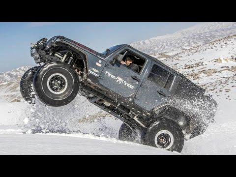 Wrangler rubicon with v8 hemi on snow doovi for Starr motors off road day 2017