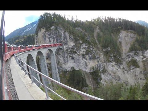 Bernina Express Chur -Tirano - 4K Seitenkameras  - Top-Of.tv