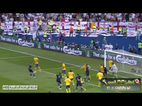 England 3 - 2 Sweden euro 2012 highlights