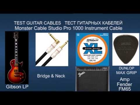 TEST Guitar Cables Analysis Plus & Monster Gibson Les Paul Custom ...