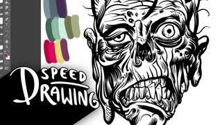 Speed Drawing: Zombie Head