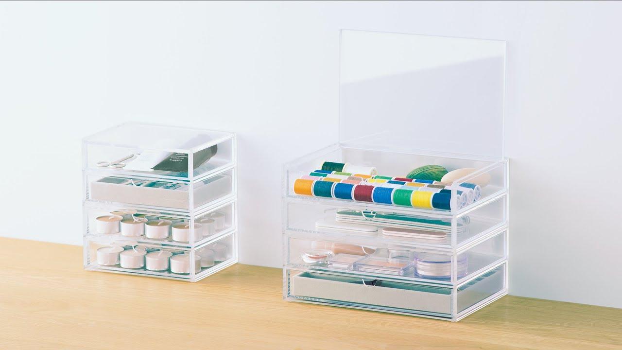 MUJI無印良品: Compact Life(Acrylic/MDF Storage)