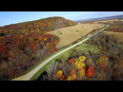 Dubuque and Mississippi River Fall Scenes 4K