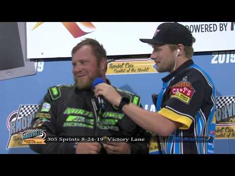 Knoxville Raceway Pro Sprints Victory Lane - August 24, 2019
