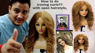 How to do iron curls with iron machine/ how to curls with ironing machine/ open styling with curls
