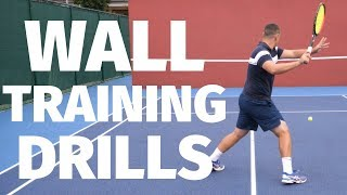 Tennis Wall Drills | 20  Drills To Improve Using A Practice Wall