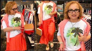 Как одеваться в элегантном возрасте Примерки Аутфиты Образы летнего дня Что модно Шопинг Обзор RABE