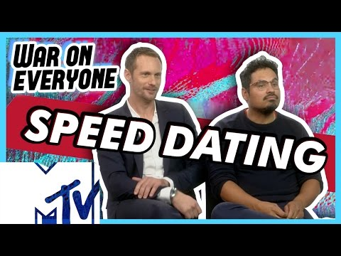 Alexander Skarsgård and Michael Peña Go Speed Dating! | MTV