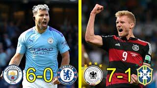 اكثر 5 مباريات انتهت بنتائج مذلة في كرة القدم وجنون المعلقين