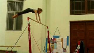 Karla Kovacevic-learning transition from high to low bar, 4.2.2009.