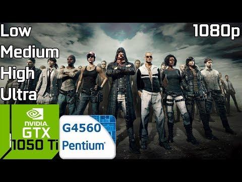 PUBG [PC] Test FPS Very Low/Low/Medium/High/Ultra with GTX 1050 Ti & Intel Pentium G4560