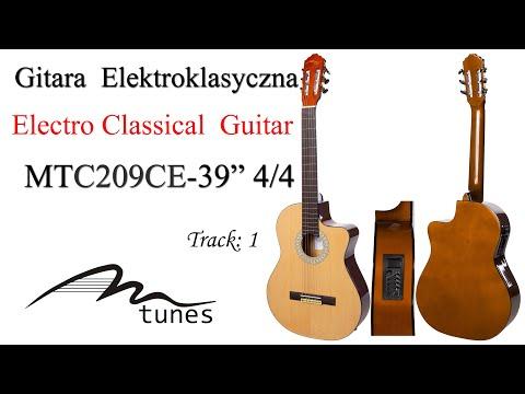 "Electro classical guitar 4/4 39"" M-tunes MTC209CE video"