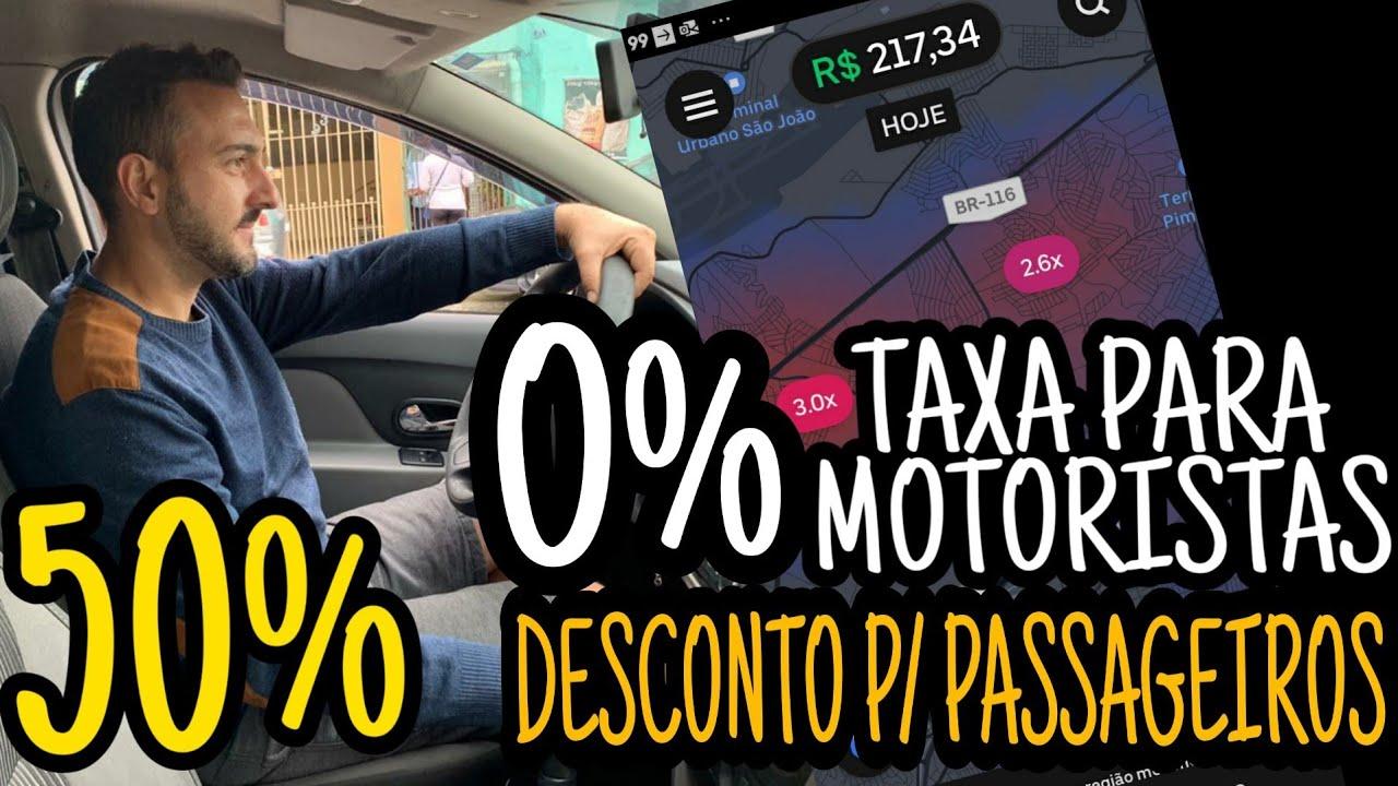 UBER 0% taxa para motoristas e 50% desconto nas viagens para passageiro Uber Cash!