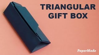 Triangular Gift Box Origami | DIY | PaperMade