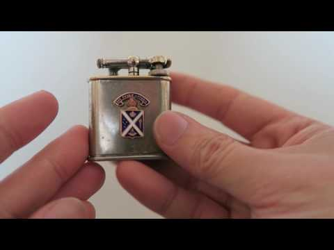 Restored 1932 Antique Lift-Arm Cigarette Lighter