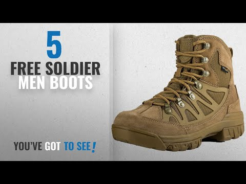 Top 10 Free Soldier Men Boots [ Winter 2018 ]: FREE SOLDIER Men's Outdoor Military Tactical Ankle