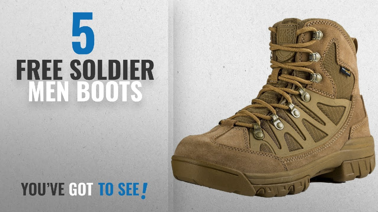 b463f9a028a Top 10 Free Soldier Men Boots [ Winter 2018 ]: FREE SOLDIER Men's Outdoor  Military Tactical Ankle