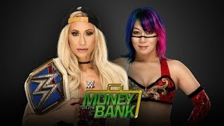 WWE Money in the Bank 2018 - Carmella  vs Asuka - WWE Smackdown Women's Championship Match