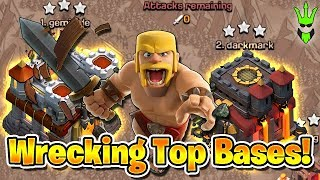 WRECKING THE TOP BASES! - 5 + 5 Friday War - Clash of Clans - Live War Attacks
