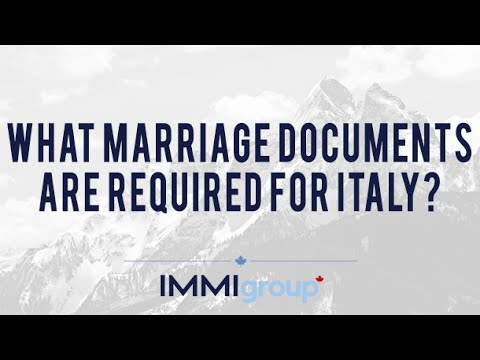 What marriage documents are required for Italy?
