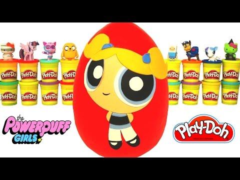 powerpuff girls bubbles sürpriz yumurta oyun hamuru  gumball şirinler cicibiciler anime